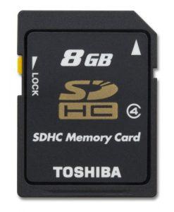 توشیبا 8GB SDHC Memory Card Class 4