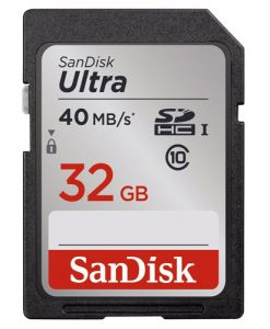 SanDisk Ultra 32GB Class 10 SDHC Memory Card Up to 40MB/s
