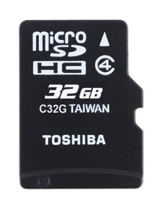 Toshiba 32GB microSDHC Class 4 Memory Card