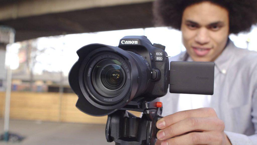 ضبط ویدئوهای Full HD 1080p دوربین Canon EOS 80D
