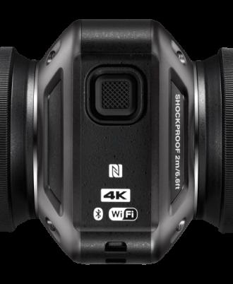 نمای میانی سمت چپ دوربین Nikon KeyMission 360