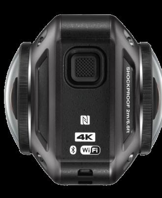 نمای میانی سمت راست دوربین Nikon KeyMission 360