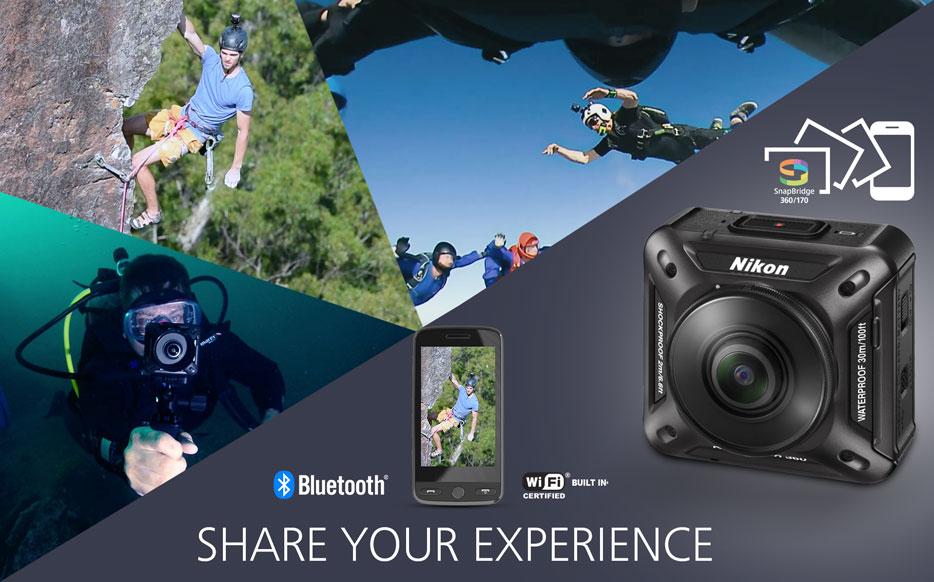 با دوربین Nikon KeyMission 360 هر تجربه ای را به اشتراک بگذارید