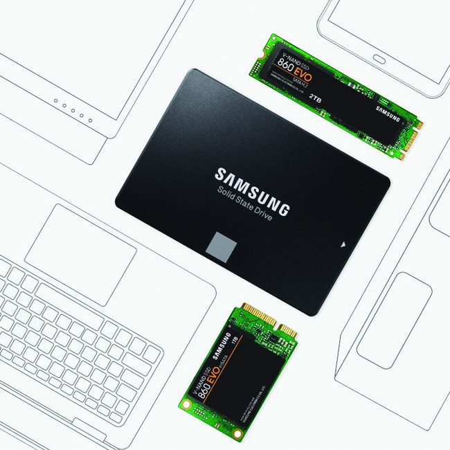 هارد اکسترنال سامسونگ  SSD Samsung 860 Evo 250G M2 MZ-N6E250BW