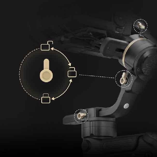 لرزشگیر ژیون-تک کرین 3S برای دوربین های بدون آینه و DSLR 15